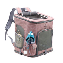 Load image into Gallery viewer, Cat Carrier Backpack pink large