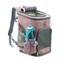 Load image into Gallery viewer, Cat Carrier Backpack pink medium