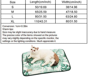 3D Print Summer Ice Silk Pet Dog Cooling Mat For Cats Dogs Dimensions