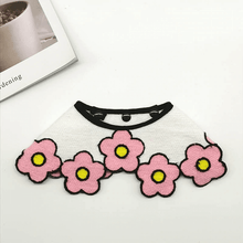 Load image into Gallery viewer, pink flower dog bandanas cute dog collar