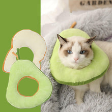 Load image into Gallery viewer, avocado-soft-Elizabethan-Collar-for-cat-and-dog-pet-cone-toast-cute-collar-for-cat-and-small-dog