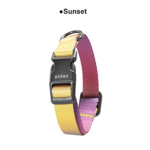 Pidan-Dog-Collar-gradient-dog-collar-soft-dog-collar-for-small-and-big-dog-sunset