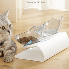 Load image into Gallery viewer, Anti-vomiting-cat-bowl-Posture cat bowl-orthopedic-cat-bowl-raised-cat-bowl-elevated-cat-feeder-cat-bowls-with-stand