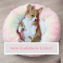 Load image into Gallery viewer, rainbow calming dog bed soothing bed
