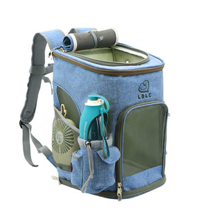 Cat Carrier Backpack blue medium