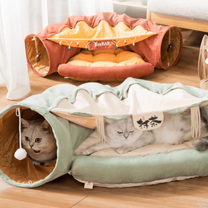 cat tunnel bed indoor