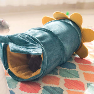 cat tunnel bed green