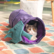 Load image into Gallery viewer, cat tunnel bed purple