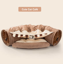 Load image into Gallery viewer, cat tunnel bed brown