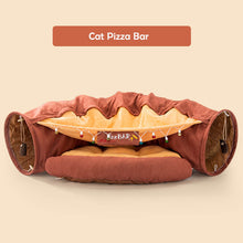 Load image into Gallery viewer, cat tunnel bed pizza red