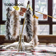 Load image into Gallery viewer, feather cat toy cat feather wand feather stick cat toy feather tail cat toy