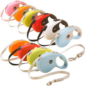 Rolled Retractable Dog Leashes