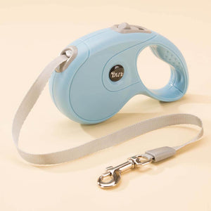 retractable dog leash blue