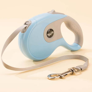 retractable dog leash blue grey