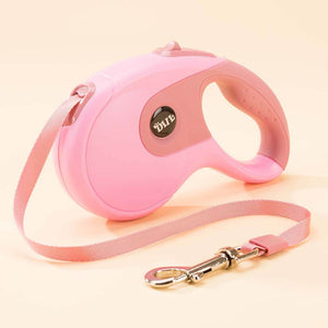 retractable dog leash pink