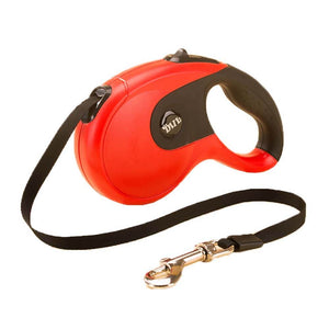 retractable dog leash red black