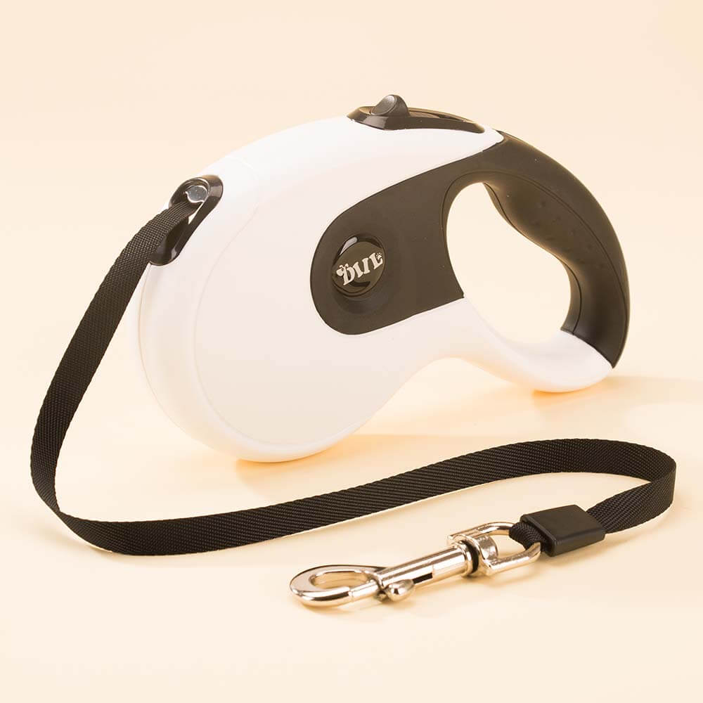 retractable dog leash white