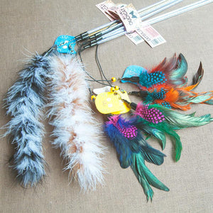 feather cat toy cat feather wand feather stick cat toy feather tail cat toy