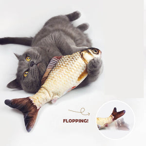 flopping fish cat toy floppy fish moving fish cat toyWagging Fish Cat Toy Catnip cat Kicker fish toy