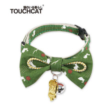 Load image into Gallery viewer, Cat-bow-tie-collar-cat-bow-tie-kitten-bow-tie-collar green