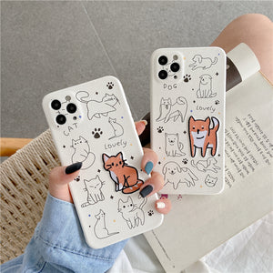 iPhone Case Embroidered Shiba dog