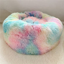Load image into Gallery viewer, rainbow marshmallow cat bed uk