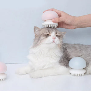 Furrytail Cat Grooming Brush Jellyfish Cat Hair Brush Pink