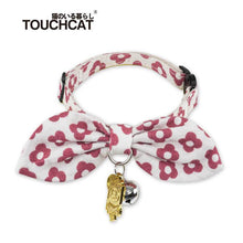 Load image into Gallery viewer, Cat-bow-tie-collar-cat-bow-tie-kitten-bow-tie-collar pink flower