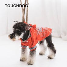 Load image into Gallery viewer, Touchdog-dog-raincoat-Dog-raincoat-with-hood-dog-rain-jacket-small-dog-raincoat-small-dog-raincoat -red