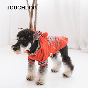Touchdog-dog-raincoat-Dog-raincoat-with-hood-dog-rain-jacket-small-dog-raincoat-small-dog-raincoat -red