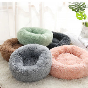 marshmallow cat bed round plush bed