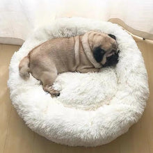 Load image into Gallery viewer, calming dog bed soothing bed white