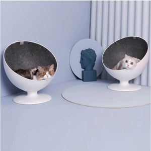 furrytail cat chair bed cat ball chair