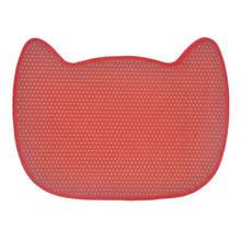 Load image into Gallery viewer, cat face cute cat litter mat red