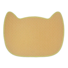 Load image into Gallery viewer, cat face cute cat litter mat yellow