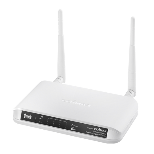EDIMAX 300Mbps Wireless Concurrent Dual-Band Gigabit IQ Router BR-6475ND