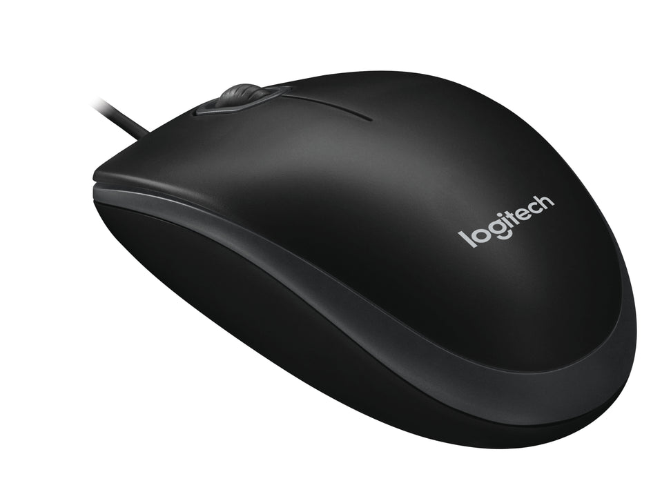 Logitech B100 Wired USB Mouse (Black)