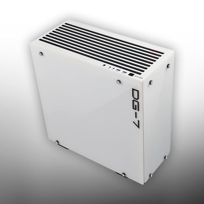 EVGA DG-75 Alpine White Mid-Tower, 2 Sides of Tempered Glass, Gaming Case