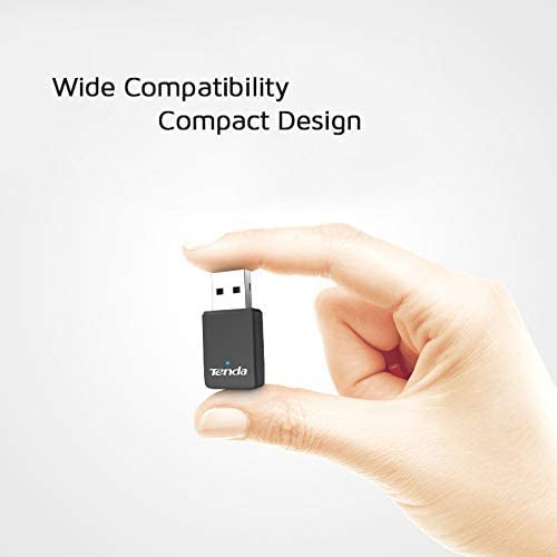 Tenda U9 AC650 Dual Band Wireless USB Adapter for PC, Desktop and Laptop, Mini Size, Plug & Play, Supports Windows XP/7/8/8.1/10