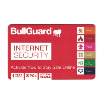 BullGuard Internet Security - 1 Year - 3 PCs