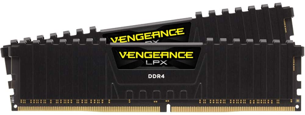 Corsair Vengeance LPX 16GB Kit (2 x 8GB), DDR4, 3000MHz (PC4-24000), CL16, XMP 2.0, DIMM Memory