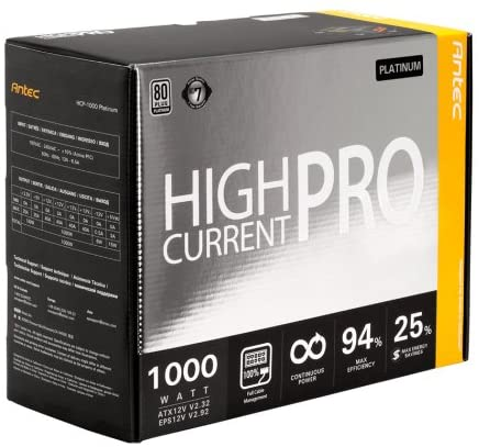 Antec High Current Pro HCP-1000 1000 W Fully Modular Platinum Power Supply Unit - Black