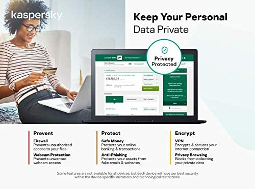 Kaspersky Internet Security 2021, 1 Device, 1 Year, Antivirus and Secure VPN Included, PC/Mac/Android, Activation Code by Post