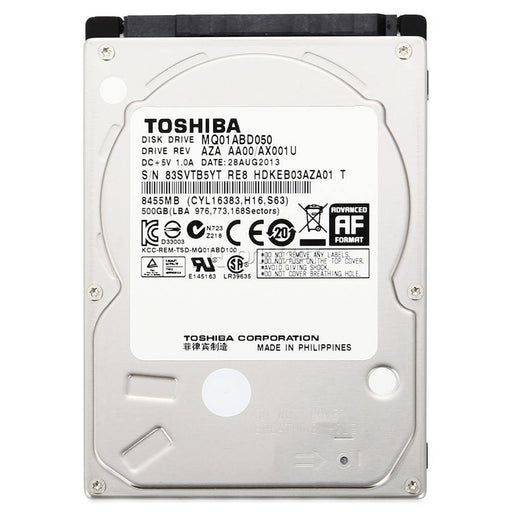 Toshiba 500GB MQ01ABD050V Internal Laptop Hard Drive