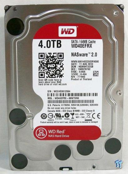 "Western Digital Red WD40EFRX 4TB IntelliPower 64MB Cache 3.5"" SATA 6Gb/s Hard Drive"