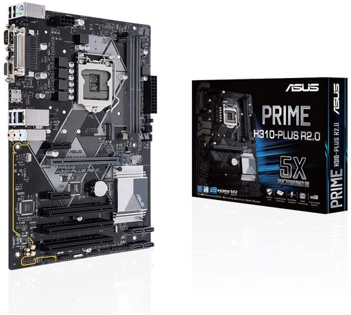 Asus PRIME H310-PLUS R2.0, Intel H310, 1151, ATX, DDR4, VGA, HDMI, Parallel, Serial, PCI, M.2