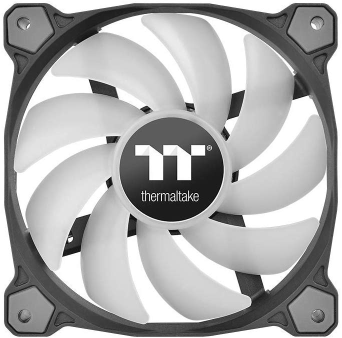 Thermaltake Pure 12 ARGB Sync Edition Quiet Radiator PWM LED Fan 5V RGB 120mm - Black (Pack of 3, Controller included)