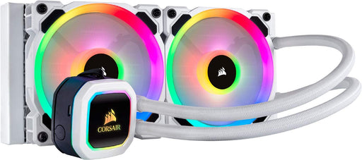 Corsair Hydro 100i RGB Platinum SE, Hydro Series, 240 mm Radiator (Dual LL120 RGB PWM Fans, Advanced RGB Lighting) Liquid CPU Cooler - White