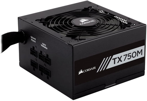 Corsair 750W Enthusiast TX-M Series TX750M PSU, Rifle Bearing Fan, Semi-Modular, 80+ Gold