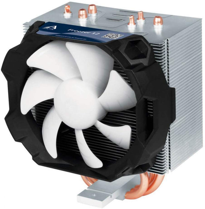 Arctic Freezer 12 Compact Semi Passive Heatsink & Fan, Intel & AM4 Sockets, Fluid Dynamic Bearing